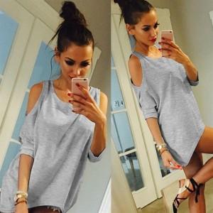Cotton Women Short Sleeve T-Shirt All Match Clothes O Neck Bat Sleeve Tops
