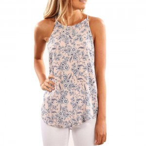Fashion Floral Digital Print Sleeveless Camisole Women Breathable Tank Tops