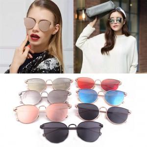Fashion Women Arrows Cat's Eye Arrow Shapes Mirror Oval Shaped Sunglasses