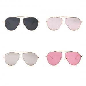 Polygon Metal Frame Sunglasses