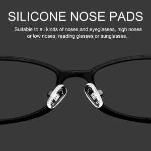 25 Pairs Silicone Nose Pads Repair Tool for Eyeglass Eyewear Accessories 13mm