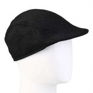 Autumn Winter Fashion Gentleman Linen Cap Solid Color Golf Director Hat