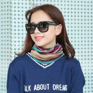 Multi-Use Knitted Scarf & Winter Hats Striped Beanies Fashion Female Scarf Hat