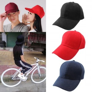 Canvas Hat Adjustable Washable Baseball Cap Solid Color Visor Men Women Hat