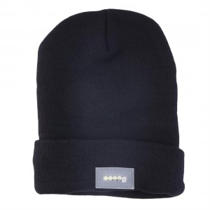 5 LED Light Night Fishing Hat Warm Winter Cap Black Camping Hiking Running Hat