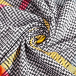 Color Houndstooth Imitation Cashmere Scarf for Kid Black