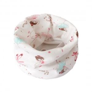 Kids Boys Girls Soft Cotton Scarves Warm Lovely Pattern Baby Collars Scarf