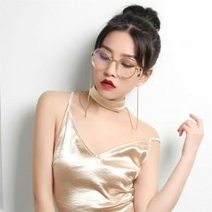 Metal Eyeglass Chains Silicone Ends Anti-slip Eyewear Cord Holder Neck Strap