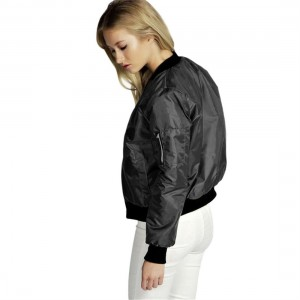 Autumn Winter Women Long Sleeve Jacket Solid Fashionable Zipper Coat Outwear